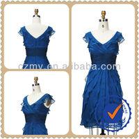 Pictures Semi Formal Dresses &Waist Pleat Sleeveless Evening Dress MY-12119