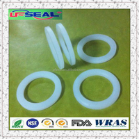 white silicone rubber 60 shoreA flat gasket ring