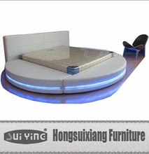 Suiying bedroom furniture,slated basedouble bed A542 with led