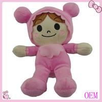 Funny soft stuffed plush mini real doll