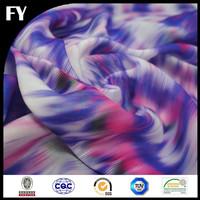 100% custom digital print silk mikado fabric
