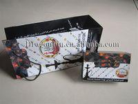 Natural bamboo charcoal for qalyan, less white ash for smoking shisha