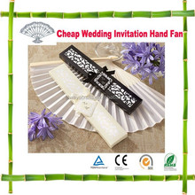 Folding Bamboo Wedding Invitation Hand Fan with Gift Box