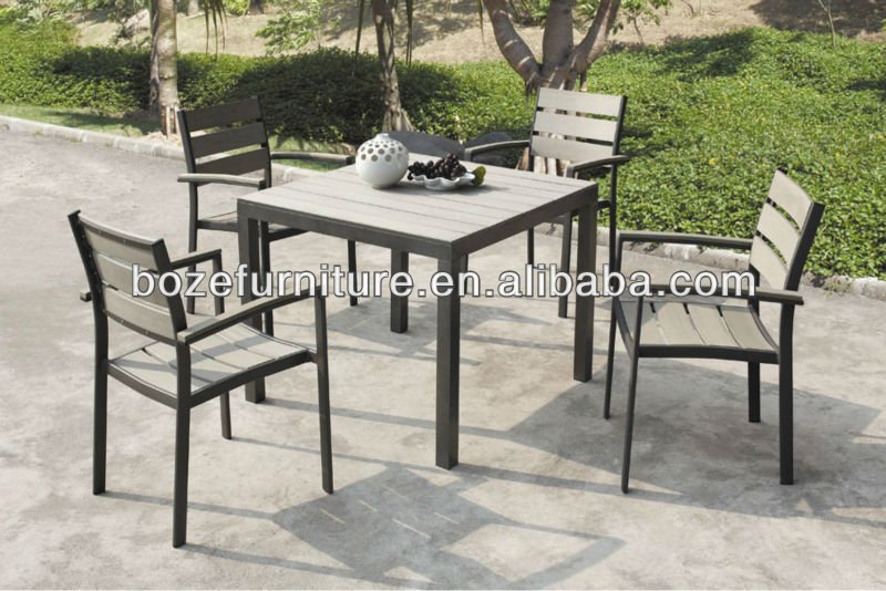 Garden furniture of new design polywood dining sets outdoor polywood furniture
