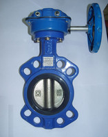 Wafer butterfly valve for drinking water-Akzo coated disc