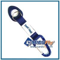 factory direct sell custom carabiner keychain short lanyard/short strap