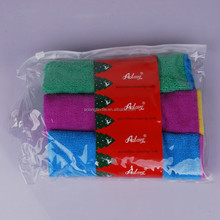 supermarket sell 80% polyester and 20% polyamide microfiber terry cloth,striped microfiber cleaning cloth