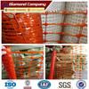 orange safety netting/plastic orange safety barrier mesh/orange plastic safety fence