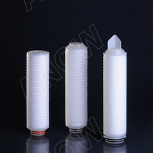 PES Filter Cartridge 0.45 micron pleated membrane for Water Sterile Filtration