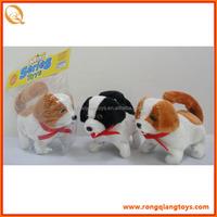 Hot animated electronic walking plush dog toys brown white dog plush toys BC4292L323A