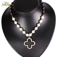 N198 chinese pearl beaded statement jewelery necklace jewelry fashion