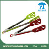 hot sale silicone food tong with stainless steel handle