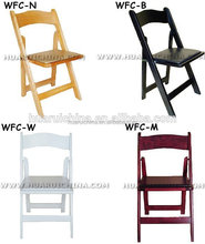 folding timber banquet chair