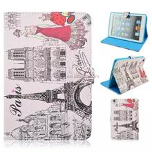 New Customized for ipad mini case/flip leather case cover for ipad mini 3/colorful printing case for ipad mini 3