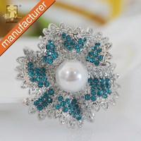 Free shipping globally silver blue scarf brooch ring clip clasp scarf tube jewelry