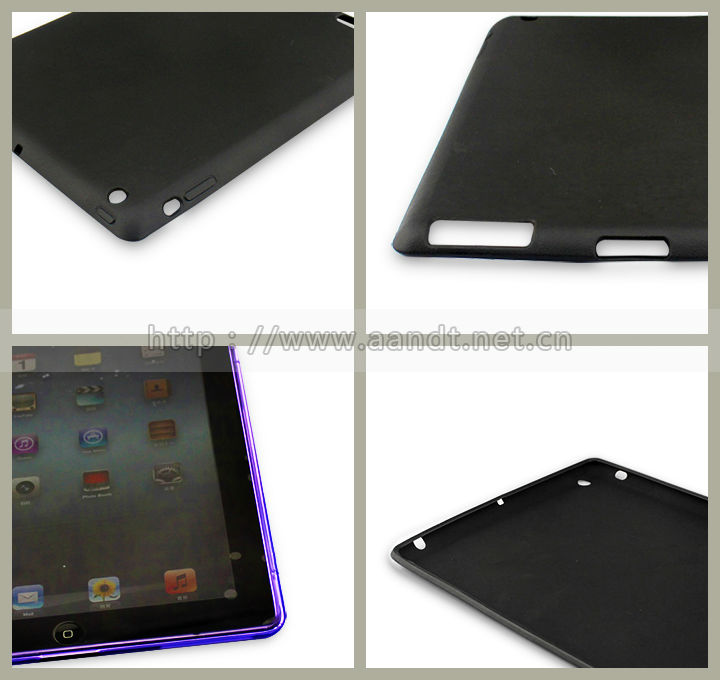 Custom logo printing New Protective flexible Silicon/TPU Case For iPad 3