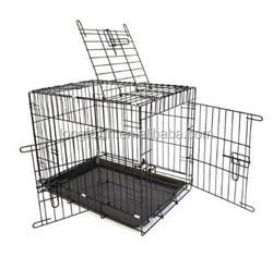 Triple-door Folding Metal Dog Pet Cage Crate Kennel