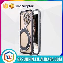 chrome heart luxury waterproof gold aluminium metal bumper cover case for iphone 6