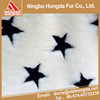 wholesale China factory Beige white pentagram luxury jacquard shaggy fur fabric