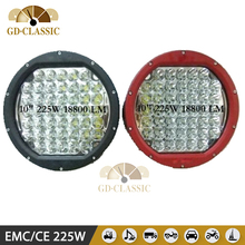 Round High power 225W led driving lamps Used 5W/PCS XPG2 Leds for 4x4 4wd offroad lights
