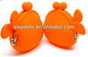 Hot fashionable silicone fish purse silicone key bag/coin wallet Coin Purse Candy colors silicon pochi bags/lady's silicone bags