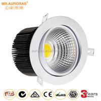 LED Ceramic COB Round Recessed 30W COB adjustable saa downlight