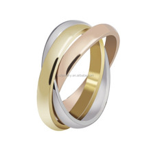 wholesale old fashioned stainless steel 3 ring binders wedding ring jewelry for women