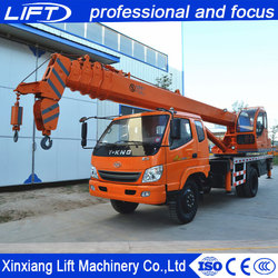 Professional design 5 ton moble truck crane with electric winch for sale