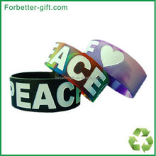 """swirl color 1"""" debossed color filled silicone wristbands"""