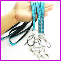 China bling lanyard with safety clip