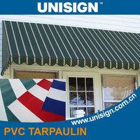 Striped PVC awning fabric