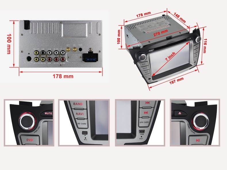 Автомобильный компьютер JOYOUS : 7' 2 Din DVD GPS IX35 Hyundai , BT,  ATV, IPOD Wi/Fi /3G