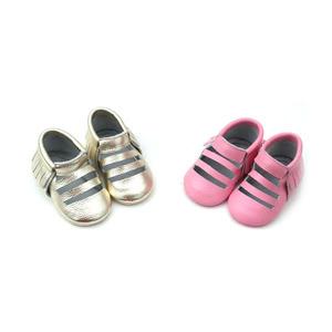 Cool style enfants à semelle souple en bas âge véritable en cuir bébé mocassins chaussures