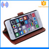 Wallet Card Holder Desk Stand Leather Cell Phone Case for iphone 6