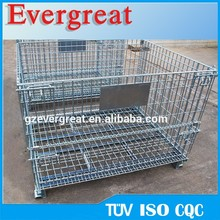Stainless Steel Folding Wire Mesh Containers/ Stackable Storage Cage/ Metal Basket