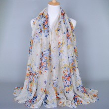Women Scarf Fashion Floral Scarves Shawls 100% viscose Muslim Hijab 180*90 Pashmina
