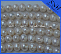 12mm potato freshwater pearl clear beads string