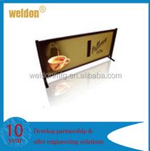 custom printed logo displayed restaurant billboard stand
