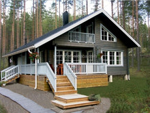 Large prefabricated wooden houses