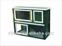 Wood rabbit cage
