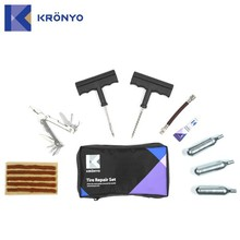 KRONYO screw driver liquid cylinder Co2 motorcycle tire repair kit