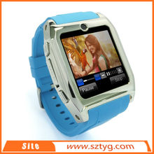 Smart watch phone for Android cell phone, 3G SIM card supported double bluetooth watch with camera