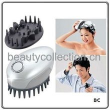 BC-0907 rechargeable vibrating rubber scalp massager