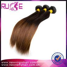 Trend productos para 2015 encanto ombre virgen real brasileño del pelo