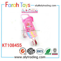 2015 new products looking for distributor lovely toys girls folding iron trolley baby toys