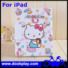 Designer Flip Protective PU Leather Cover For iPad 3 Hello Kitty Folio Case for iPad 2