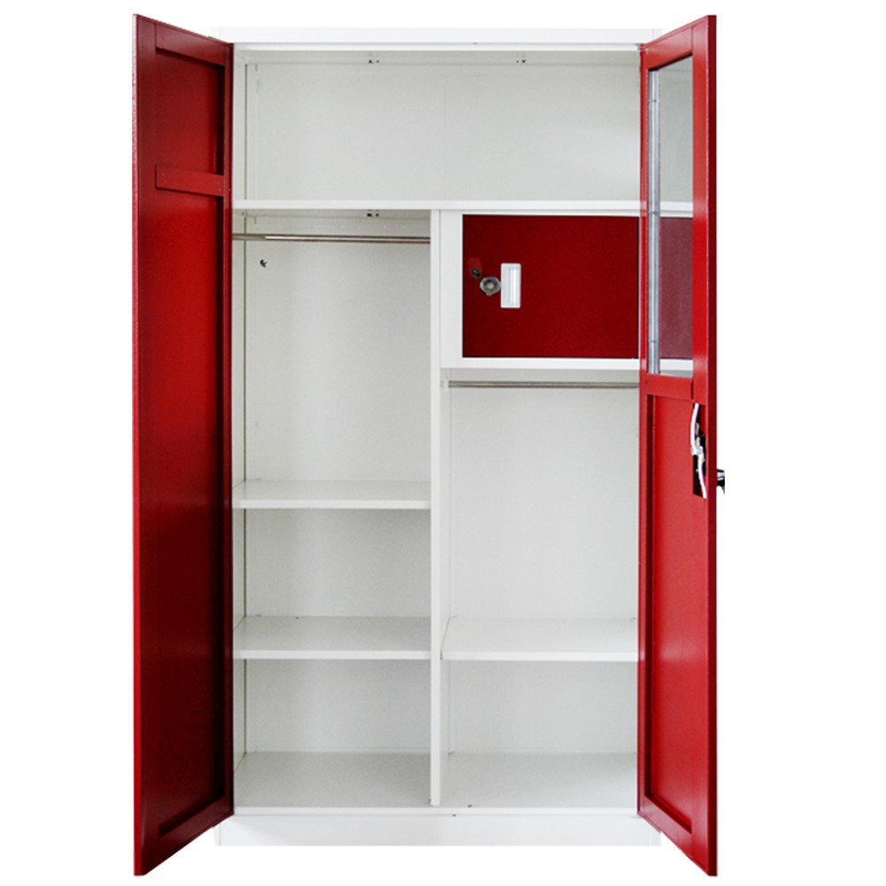 Wholesale bedroom closet steel wardrobe cabinets indian for Cloth cabinet design