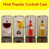 For Iphone 5 ,Mobile Phone Case,Apple Phone Cases For Iphone 6 Plus Case With Cocktail And Slides Hourglass Cover