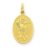 Stainless Steel 14k gold fashion Hockey Sports Pendant