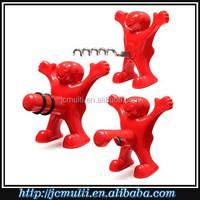 2015 popular mini funny hardare gift red man wine opener